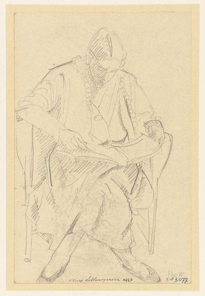 Henry de WAROQUIER (1881- 1970) Femme assise...