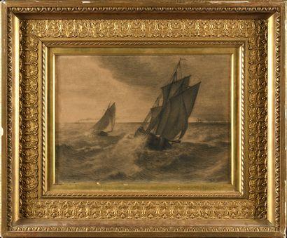 Jean François MILLET (1814-1875) Pleine mer...