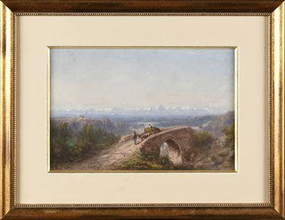 Paul PASCAL (1832/39-1903/05) Paysage italien...