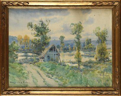 Émile APPAY (1876-1935) Etangs près d'Amiens...