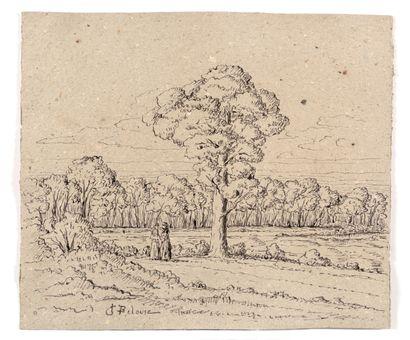 Léon-Germain PELOUSE (1838-1891) Paysage...