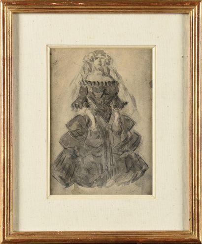Constantin GUYS (1802-1892) Lorette Dessin...