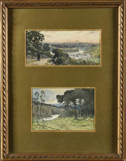 Henri Laurent MOUREN (1844-1926) La vallée...
