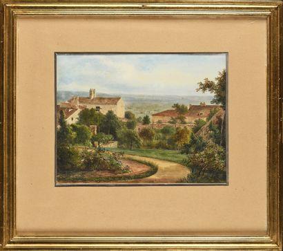 Pierre Luc Charles CICERI (1782-1868) Jardin...