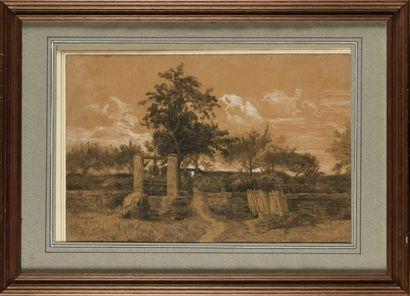 Eugène Antoine S. LAVIEILLE (1820-1889) Paysage...
