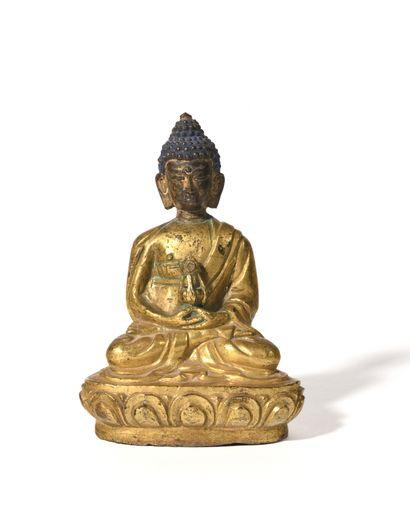 ART SINO-TIBÉTAIN Belle figurine en bronze...