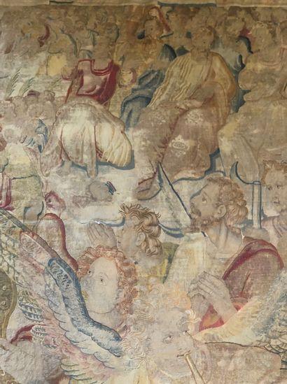 FLANDRES Exceptionnelle, fine et importante tapisserie de Bruxelles vers 1610 Panneau...
