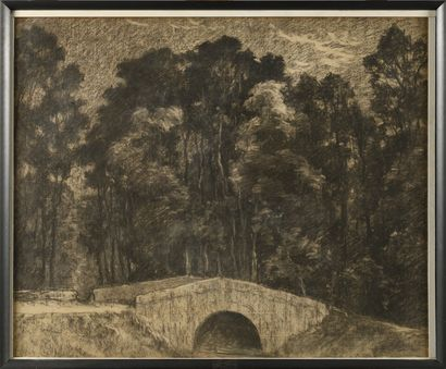 PIERRE PRINS (1838-1913) Le petit pont à...