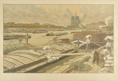 HENRI RIVIERE (1864-1951) Notre-Dame vue...