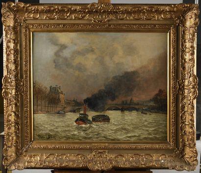 FRANK BOGGS (1855-1920) Paris Le Louvre,...