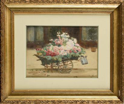 VICTOR GILBERT (1847-1935) La charrette de...