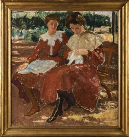 JEAN PUY (1876-1960) Les deux soeurs, 1905...