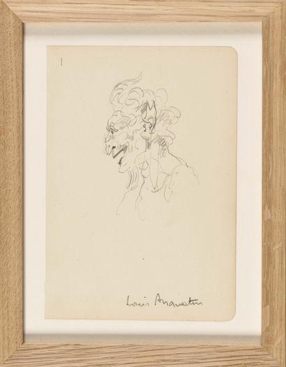 LOUIS ANQUETIN (1861-1932) Tête de Faune...