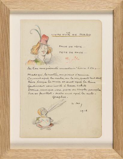 LUCIEN METIVET (1863-1932) Tête de Page,...