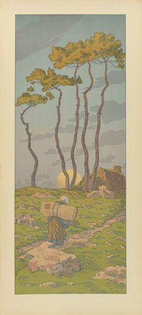 HENRI RIVIERE (1864-1951) La Pleine Lune....