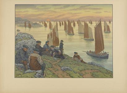 HENRI RIVIERE (1864-1951) Les Vieux. 1906....