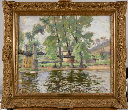 PAUL MADELINE (1863-1920) Le pont de Basteyroux...