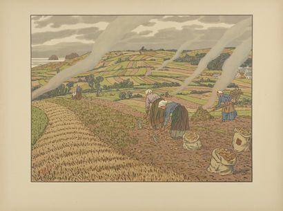HENRI RIVIERE (1864-1951) Le travail aux...
