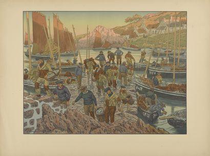 HENRI RIVIERE (1864-1951) Le Port. 1906....