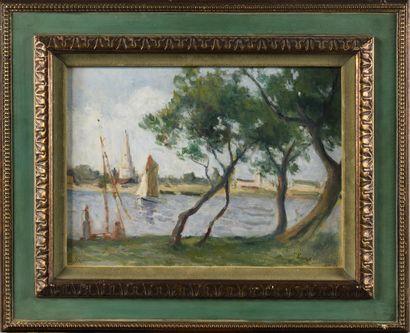 MAXIMILIEN LUCE (1858-1941) La côte Hollandaise...