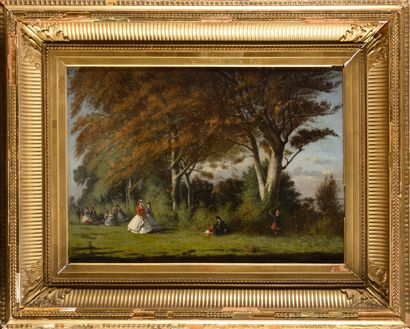 LOUIS ALEXANDRE DUBOURG (1825-1891) Crinolines...