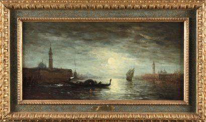 FELIX ZIEM (1821-1911) Venise, la lune sur...