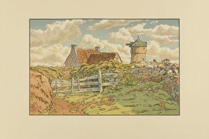 HENRI RIVIERE (1864-1951) Le Vieux moulin...