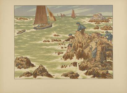 HENRI RIVIERE (1864-1951) Les Mousses. 1906....