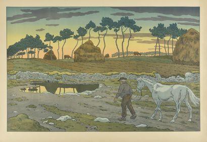 HENRI RIVIERE (1864-1951) Le Crépuscule....
