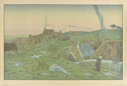 HENRI RIVIERE (1864-1951) Le Lever de la...