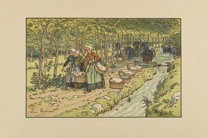 HENRI RIVIERE (1864-1951) Lavoir à Tréboul....
