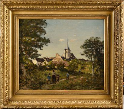 HENRI JOSEPH HARPIGNIES (1819-1916) Promenade...