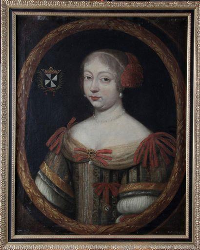 Ecole FRANCAISE vers 1640 Portrait de dame...