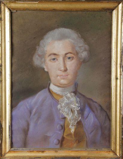 ÉCOLE FRANÇAISE, du XVIII siècle. « Portait...