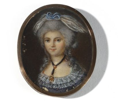 Ecole française de la fin du XVIIIe « Portrait...