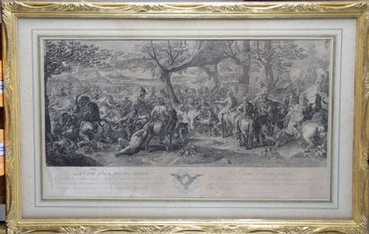 After Charles LE BRUN (1619-1690) Engraved by AUDRAN. From the Battles of Alexander....
