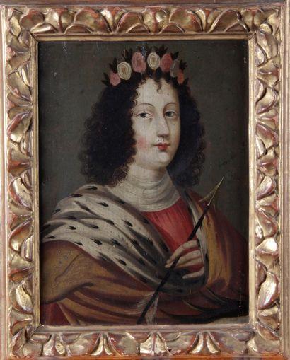 ÉCOLE FRANÇAISE du XVIII siècle. « Portait...