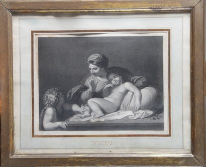 D'APRES Annibal CARACCI, gravée G. LEVY «...
