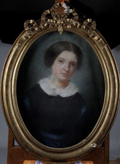 ÉCOLE FRANÇAISE DU XIX SIECLE. « Portrait...