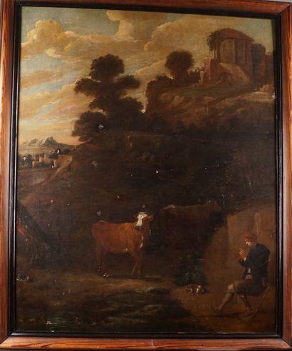 ÉCOLE FLAMANDE vers 1700, suiveur de David...