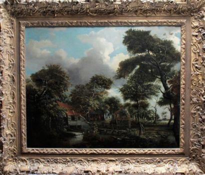 Entourage de Meindert HOBBEMA (1638-1709)...