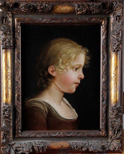 ÉCOLE FRANÇAISE DU XIX SIÈCLE. « Portrait...