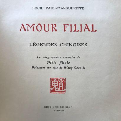 Lucie PAUL-MARGUERITE  Amour filial, légendes...