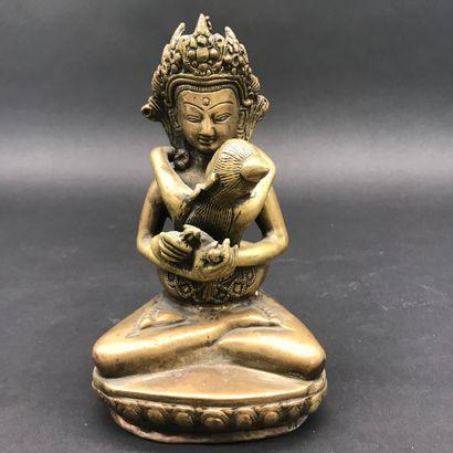 INDE  Shivah Shakti  Statuette tantrique...