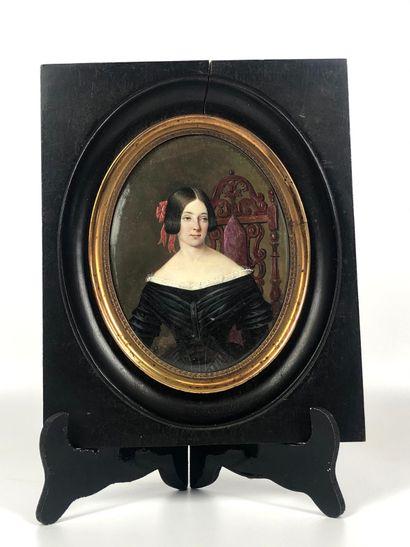 Aimée THIBAULT (1780-1868), attribué à Portrait...