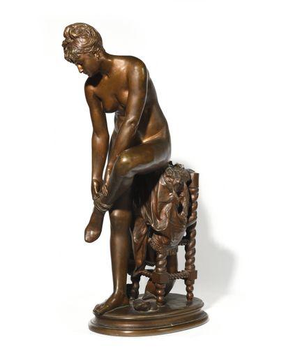 Ernest-Eugène HIOLLE (1834-1886) Le Modèle...