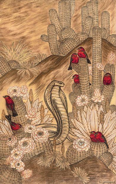 GASTON SUISSE (1896-1988) Cobras et tangaras...