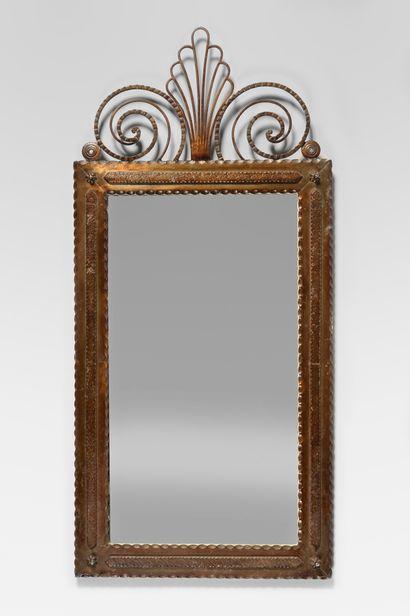 TRAVAIL DANS LE GOUT ART DECO Miroir rectangulaire...