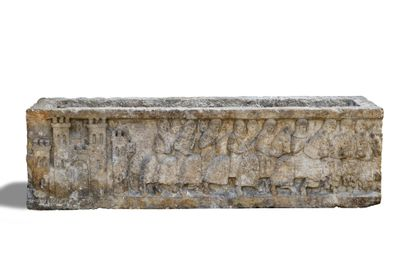 LINTEAU en pierre transformé en jardinière...