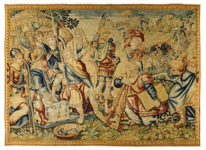 FLANDRES Importante et fine tapisserie de...